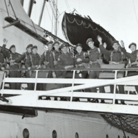 C.O.T.C. officers on the Empress of Canada