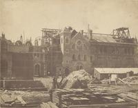 Quadrangle of University College under construction