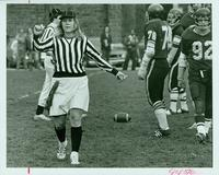 Piret Komi, football referee, 1975