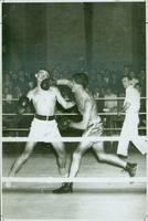 A boxing match in Hart House, ca. 1950