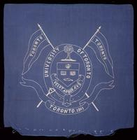 Cushion cover for games in Varsity Stadium, 1911
