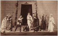 Scene from University College's production of 'Antigone', Convocation Hall, 1882