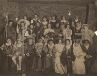The cast of 'As you like it', 1908