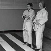 Two students at Karate Practice