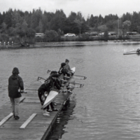 UTM, rowers and coxswain preparing to row