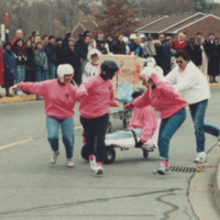 UTM, Bed Race, staff teams competing