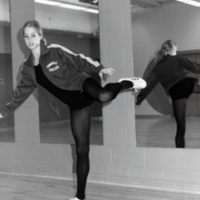 Student in dance pose