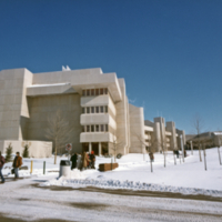 UTM, South Building, winter scene