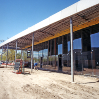 Erindale College (UTM), Late construction stage of Student Centre during the spring