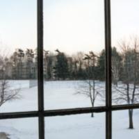 Erindale College (UTM), North Building window looking to South Building