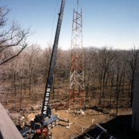 Erindale College (UTM), Central Utilities Plant, working on antenna