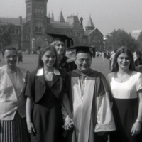 UTM Convocation, honorary degree recipient, Iggy Kaneff, with his family