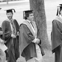 UTM Convocation (June 1987), procession walking to Convocation Hall