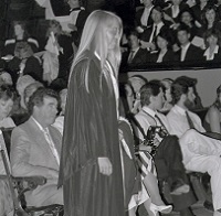 UTM Convocation (June 1988), graduate preparing to be hooded