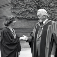 UTM, 1990 Convocation, student and professor