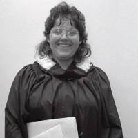 UTM Convocation (June 1990), graduate Mona?