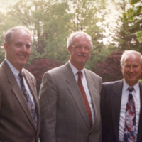 Lislehurst, retiree (centre) with Principal McNutt (left)