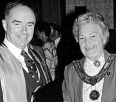 Erindale College (UTM), Installation of Principal Desmond Morton, with Mayor Hazel McCallion