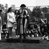 Erindale College (UTM), First Convocation (June 1970), Dean E.A.(Peter) Robinson, Tennys Reid?, J. Tuzo Wilson, 48th Hig...