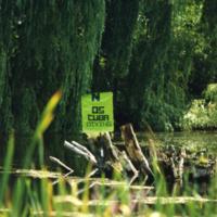 UTM, pond, No Scuba Diving sign