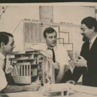 Architects Michael Hough, John Andrews, and Michael Huso-Brunt