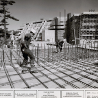 Construction of Scarborough College: Science Wing & Administration Building, southeast view