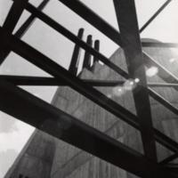 Frame of bridge between Humanities & Recreation Wings