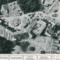 Aerial view of Scarborough College construction