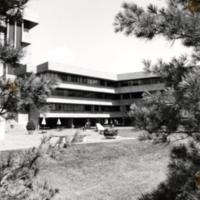 Humanities Wing patio