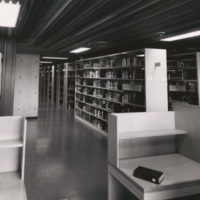 Study Carrels and Stacks in New V.W. Bladen Library