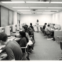 Students in Computer lab, V.W. Bladen Library, Scarborough College