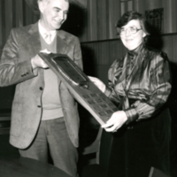 Jim Howard with Professor Eleanor Irwin, winner of the D.R. Campbell Award