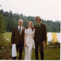 P.R.W. Millard, Kathy Kester Millard, and Mord S. Millard at Garden Party Reception