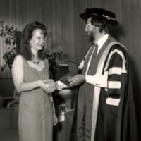 Award Winner, Diane Williams, with Principal Paul Thompson