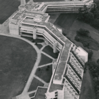 Aerial view of Scarborough College from the west