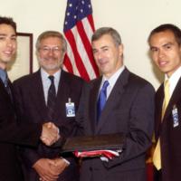Award recipient with Principal Paul Thompson