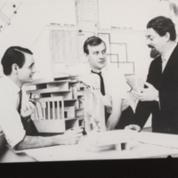 Campus architects, Michael Hough (landscape), John Andrews & Michael Huso-Brunt