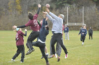 Recreational athletic activity,  co-ed football game, University of Toronto at Scarbrough (UTSC)
