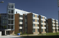 Building exterior, accommodation on campus, Joan Foley Hall, University of Toronto at Scarborough (UTSC)