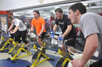 Recreational athletic activity, cycle fit spinning class, University of Toronto at Scarbrough (UTSC)