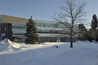 Building exterior in winter, University of Toronto at Scarborough (UTSC)