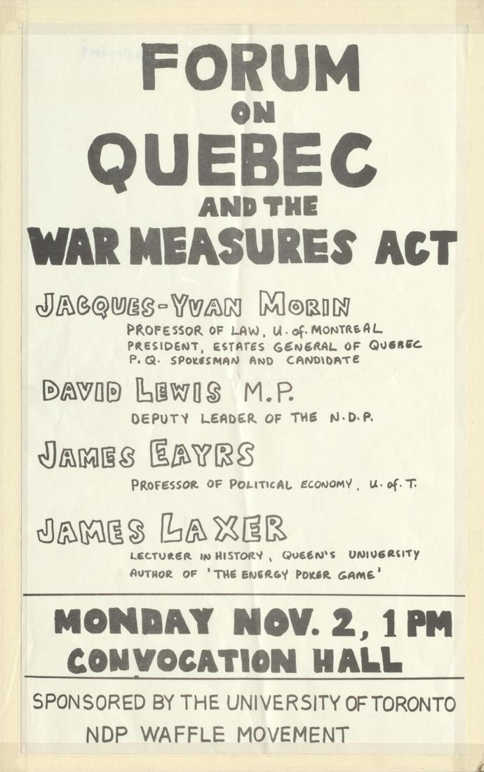 war measures act essay