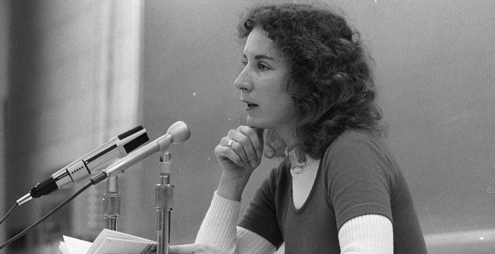Margaret Atwood, Writer-in residence at Massey College, 1972 from the Robert Lansdale Photographic Collection