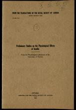 Banting, Best, Collip, and Macleod deliver papers on insulin to the Royal Society of Canada